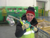 Paul on work experience at the recycling Centre, Bray
